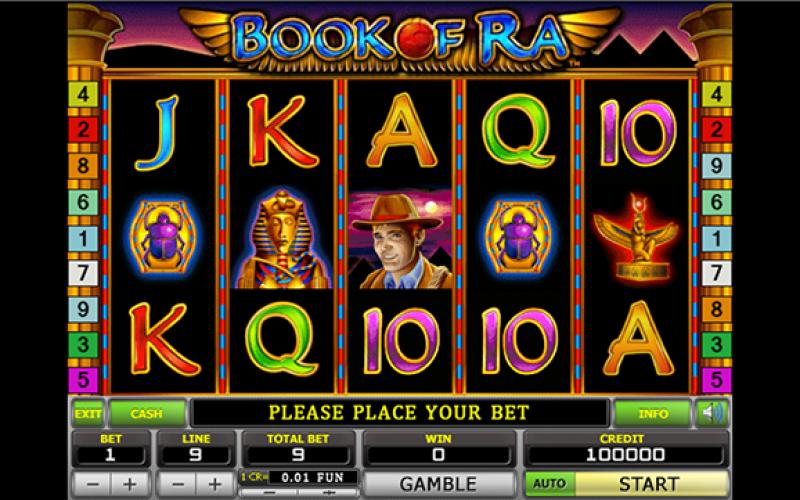 Онлайн игровой автомат книга ра