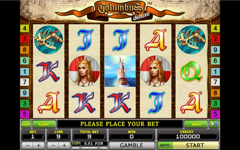 бесплатно игровой автомат колумбус