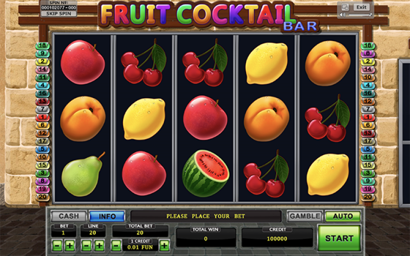 Правила игры fruit cocktail