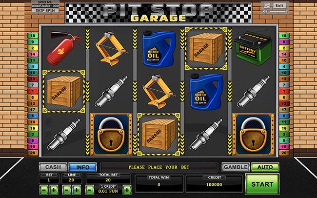 garage игровой автомат